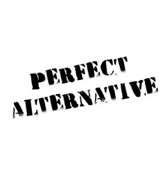 Perfect alternative rubber stamp vector