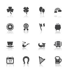 Saint patricks day icons vector