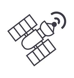 Sattelite line icon sign on vector