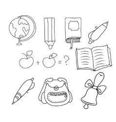 School - doodles collection vector