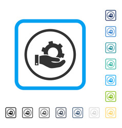 service framed icon vector image vector image