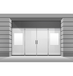 Shop boutique store front with window vector