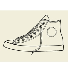 Sport shoes sketch vector image vector image