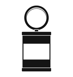 Trash can with pedal icon simple style vector image vector image