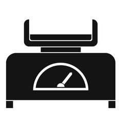 Weight scale icon simple style vector