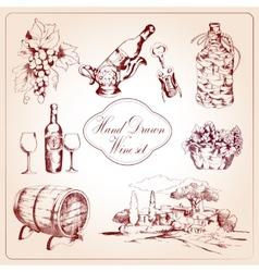 Wine decorative icons set vector image