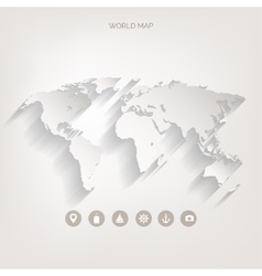 World map concept vector image vector image