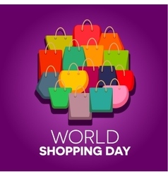 World shopping day vector