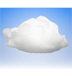 single cloud vector image