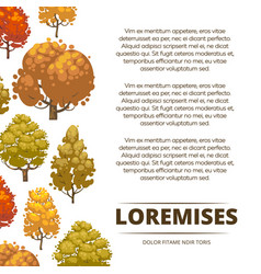 Autumn background poster design with colorful vector