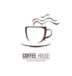 Coffee lofo template vector