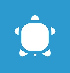 Turtle icon white on the blue background vector