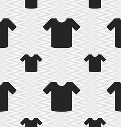 T-shirt clothes icon sign seamless pattern with vector