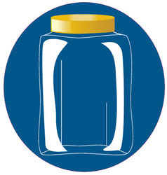 Glass bottle-jar vector