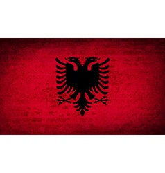 Flags albania with dirty paper texture vector