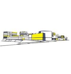 urban ensemble vector image