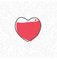 Love processing concept heart on scribble vector