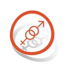 Gender symbols sign sticker orange vector