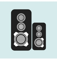 Speakers columns isolated design vector