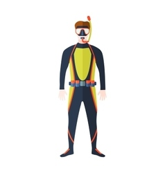 Diver isolated vector