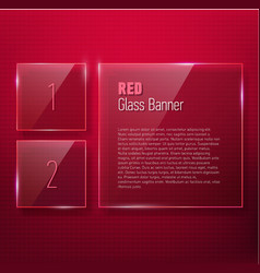 Set of glass banners for your design vector