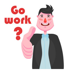 A businessman with a strong-willed chin is smiling vector
