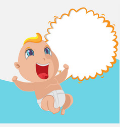 baby happy cartoon template background vector image