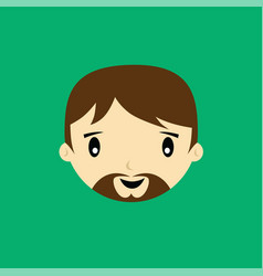 Cartoon expression face male guy man art vector