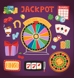 casino game gambling symbols blackjack cards money vector image vector image