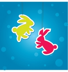 Christmas hare vector image vector image