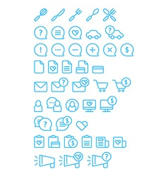 Cleanse icons set vector