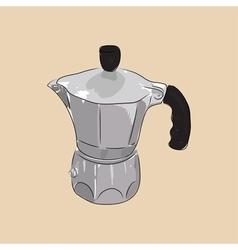 Coffee maker geyser vector