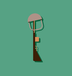 Flat icon design collection military rifle and vector
