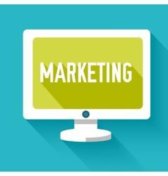 flat marketinng icon concept design vector image vector image