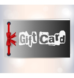 gift card with ribbon vector image vector image