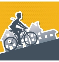 Graphic design of Bike lifestyle vector image vector image