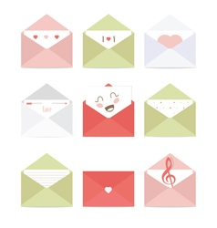 greeting envelopes with different messages vector image