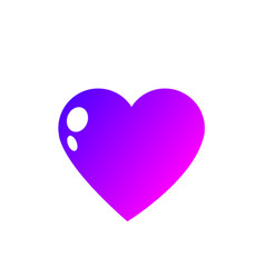 isolated heart design vector image