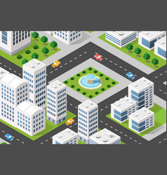 Isometric 3d city urban vector