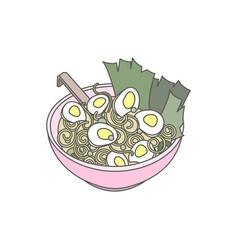Japanese ramen noodle vector