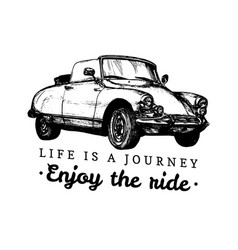 Life is a journeyenjoy the ride vector