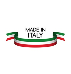 Made in italy symbol colored ribbon vector