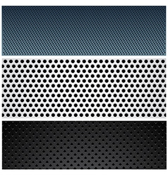 Metallic pattern set vector image
