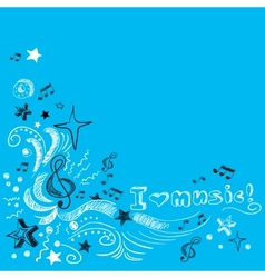 Music doodle background vector