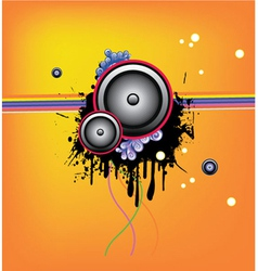 music wallpaper vector image vector image