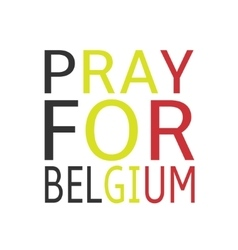 Pray for Belgium vector image