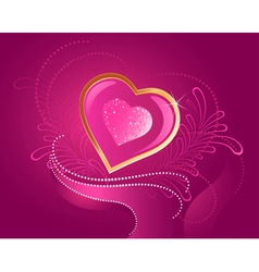 precious pink heart vector image
