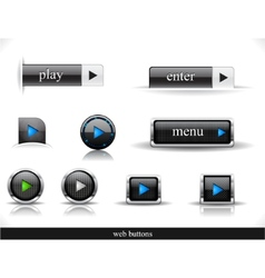 set of dark web buttons vector image vector image