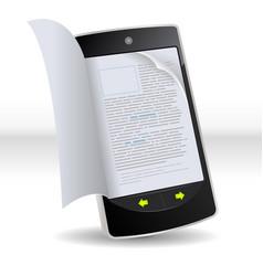 Smartphone flipping book vector
