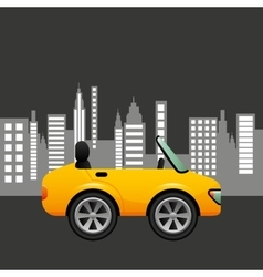Sport car coupe city background design vector